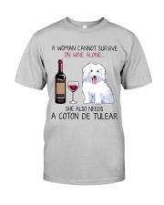 Wine and Coton de Tulear 2 Classic T-Shirt front