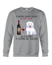 Wine and Coton de Tulear 2 Crewneck Sweatshirt thumbnail