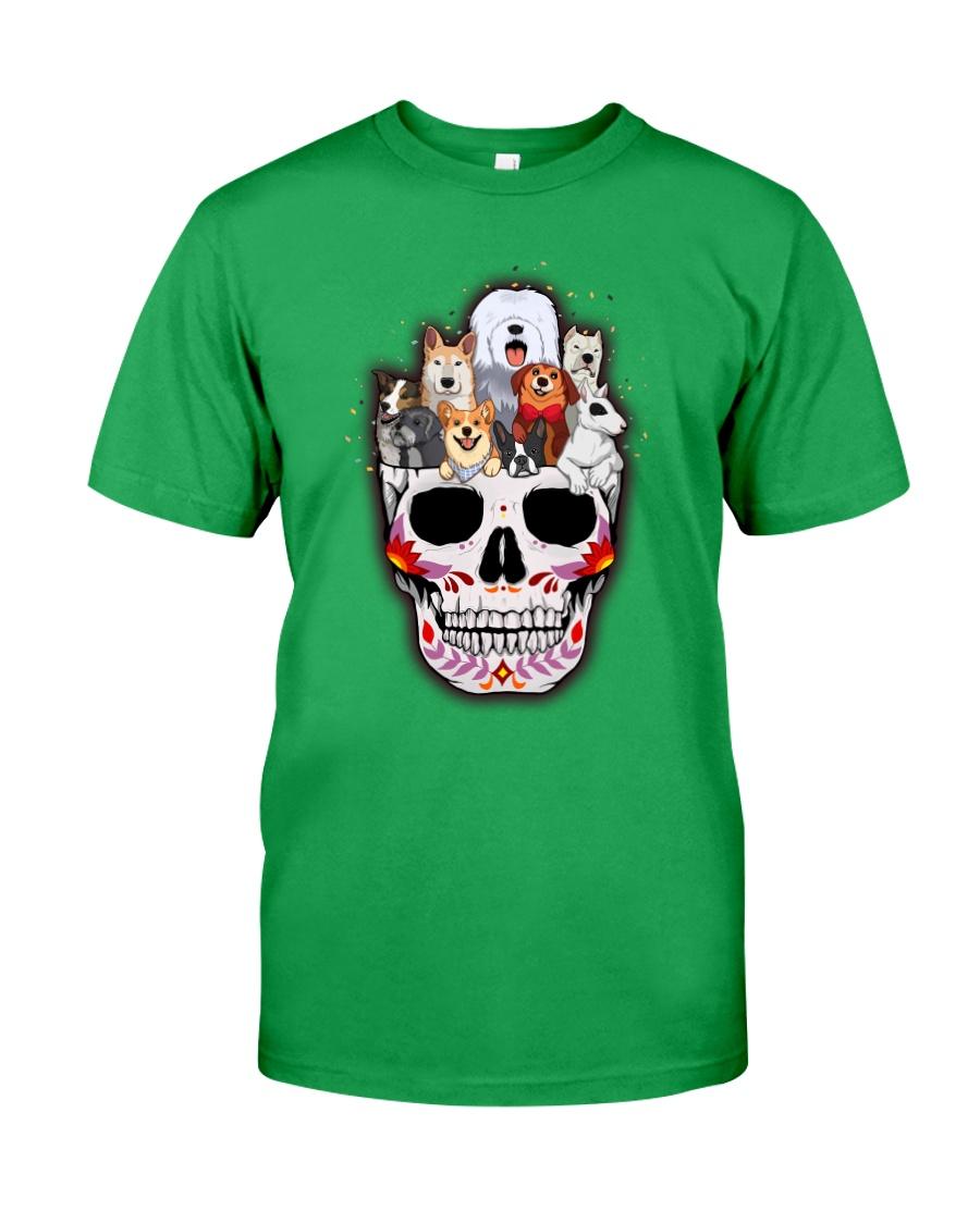 Half Skull Dogs Classic T-Shirt