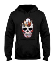 Half Skull Dogs Hooded Sweatshirt thumbnail