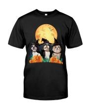 Howloween Shih Tzu Classic T-Shirt front