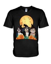 Howloween Shih Tzu V-Neck T-Shirt thumbnail