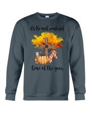 The Most Wonderful Time - Christian Cross 2 Crewneck Sweatshirt thumbnail