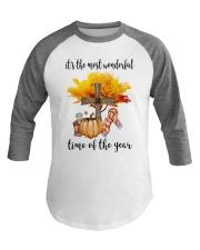 The Most Wonderful Time - Christian Cross 2 Baseball Tee thumbnail
