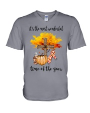 The Most Wonderful Time - Christian Cross 2 V-Neck T-Shirt thumbnail