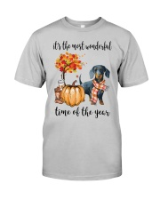 The Most Wonderful Time - Dachshund 2 Classic T-Shirt front
