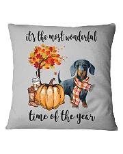 The Most Wonderful Time - Dachshund 2 Square Pillowcase thumbnail