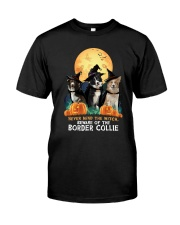 Howloween Border Collie 2 Classic T-Shirt front