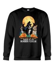 Howloween Border Collie 2 Crewneck Sweatshirt thumbnail