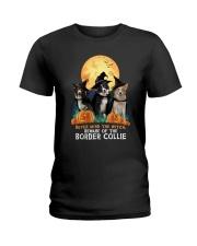 Howloween Border Collie 2 Ladies T-Shirt thumbnail