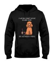 Wine and Poodle 3 Hooded Sweatshirt thumbnail