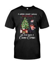 Christmas Wine and Cane Corso Classic T-Shirt thumbnail