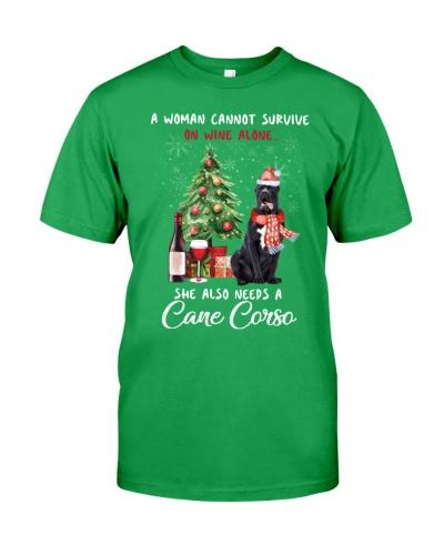 Christmas Wine and Cane Corso