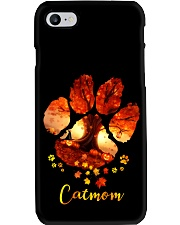 Cat Mom Autumn Leaves Halloween Phone Case thumbnail