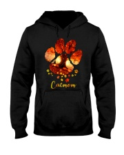 Cat Mom Autumn Leaves Halloween Hooded Sweatshirt thumbnail