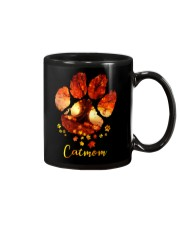 Cat Mom Autumn Leaves Halloween Mug thumbnail