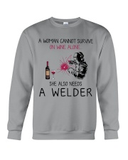 Wine and A Welder 2 Crewneck Sweatshirt thumbnail