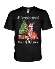 The Most Wonderful Xmas - Pit Bull V-Neck T-Shirt thumbnail