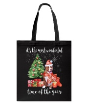 The Most Wonderful Xmas - Pit Bull Tote Bag thumbnail