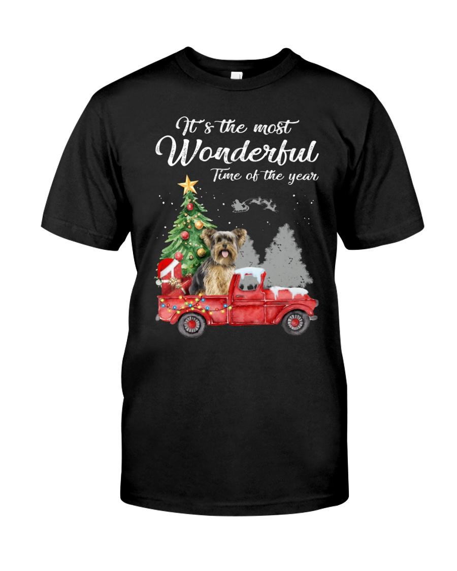 Wonderful Christmas with Truck - Yorkie Classic T-Shirt