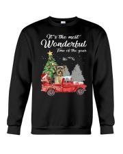 Wonderful Christmas with Truck - Yorkie Crewneck Sweatshirt thumbnail