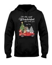Wonderful Christmas with Truck - Yorkie Hooded Sweatshirt thumbnail