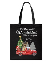Wonderful Christmas with Truck - Yorkie Tote Bag thumbnail
