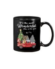 Wonderful Christmas with Truck - Yorkie Mug thumbnail