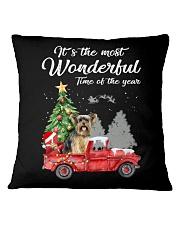 Wonderful Christmas with Truck - Yorkie Square Pillowcase thumbnail