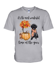 The Most Wonderful Time - Schnoodle V-Neck T-Shirt thumbnail