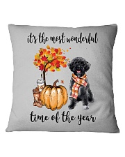 The Most Wonderful Time - Schnoodle Square Pillowcase thumbnail