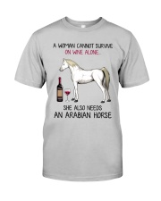 Wine and Arabian Horse 2 Classic T-Shirt front