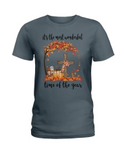 The Most Wonderful Time - Christian Cross 3 Ladies T-Shirt thumbnail