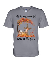 The Most Wonderful Time - Christian Cross 3 V-Neck T-Shirt thumbnail