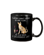 Wine and Savannah Cat Mug thumbnail