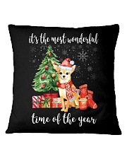 The Most Wonderful Xmas - Chihuahua Square Pillowcase tile
