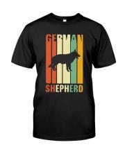 German Shepherd Colors Classic T-Shirt front