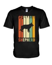 German Shepherd Colors V-Neck T-Shirt thumbnail