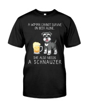 Beer and Schnauzer Classic T-Shirt front