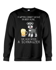 Beer and Schnauzer Crewneck Sweatshirt thumbnail