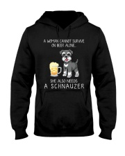 Beer and Schnauzer Hooded Sweatshirt thumbnail