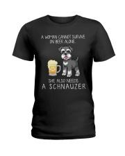 Beer and Schnauzer Ladies T-Shirt thumbnail