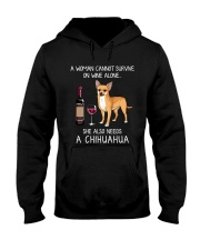 Wine and Chihuahua 3 Hooded Sweatshirt tile