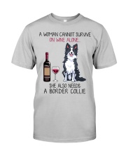 Wine and Border Collie 2 Classic T-Shirt front