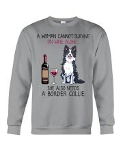 Wine and Border Collie 2 Crewneck Sweatshirt thumbnail
