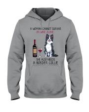 Wine and Border Collie 2 Hooded Sweatshirt thumbnail