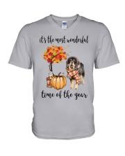 The Most Wonderful Time - Tibetan Mastiff V-Neck T-Shirt thumbnail