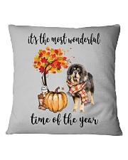 The Most Wonderful Time - Tibetan Mastiff Square Pillowcase thumbnail
