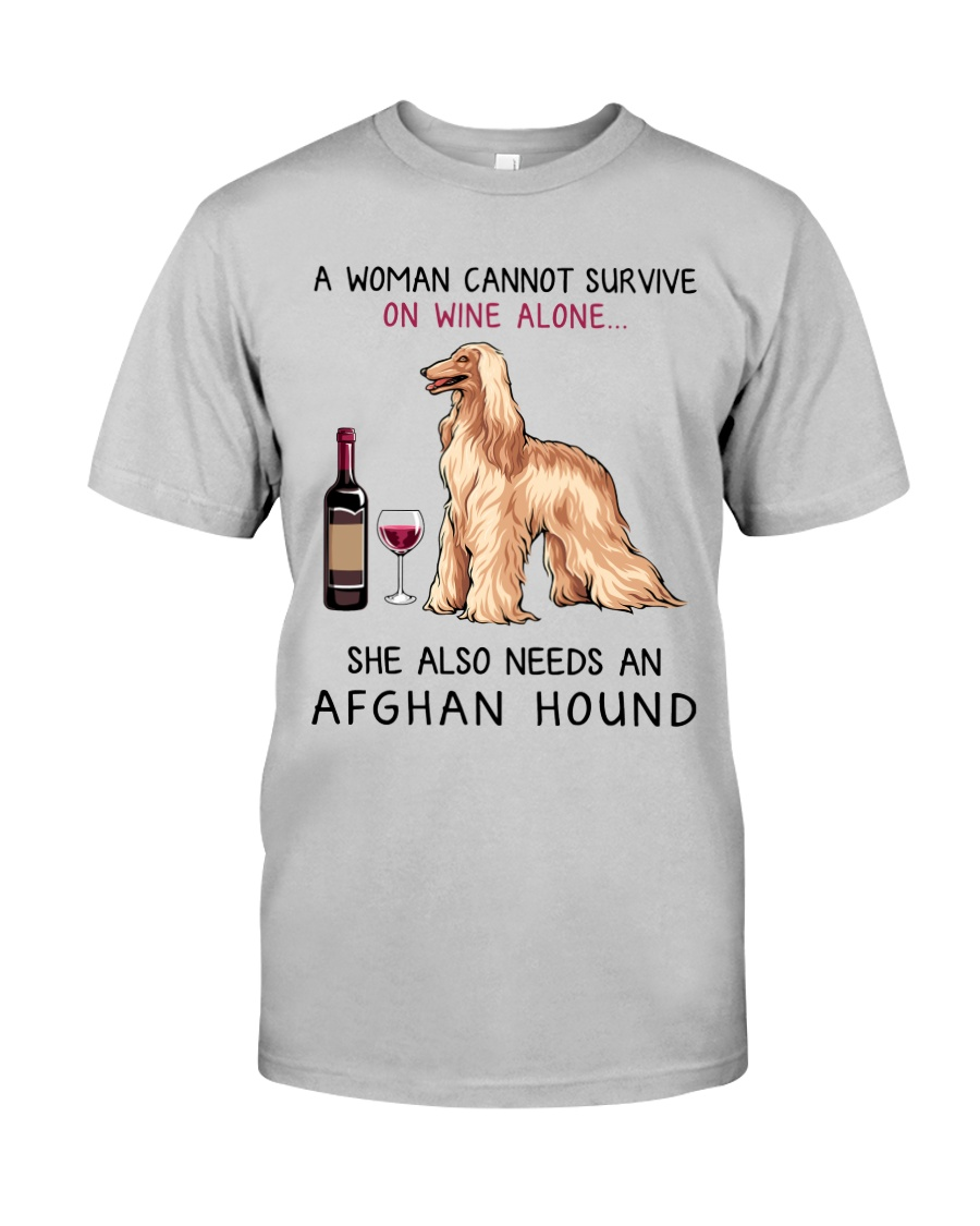 Wine and Afghan Hound 2 Classic T-Shirt