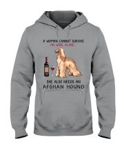 Wine and Afghan Hound 2 Hooded Sweatshirt thumbnail